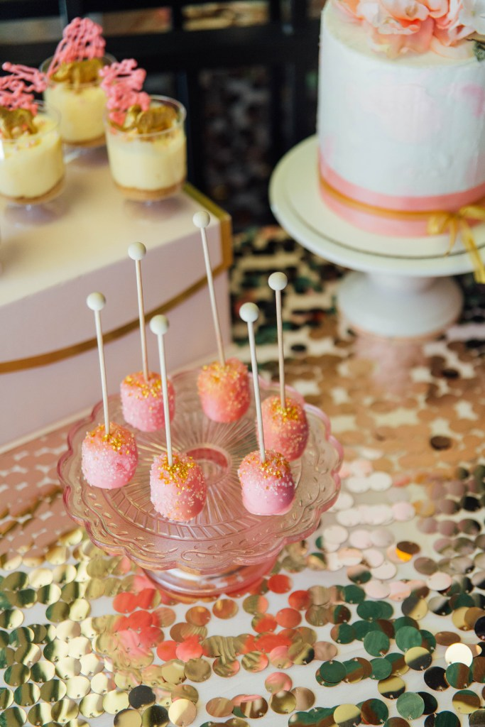 Circus Pink & Gold Dessert Table, Baby Shower,
