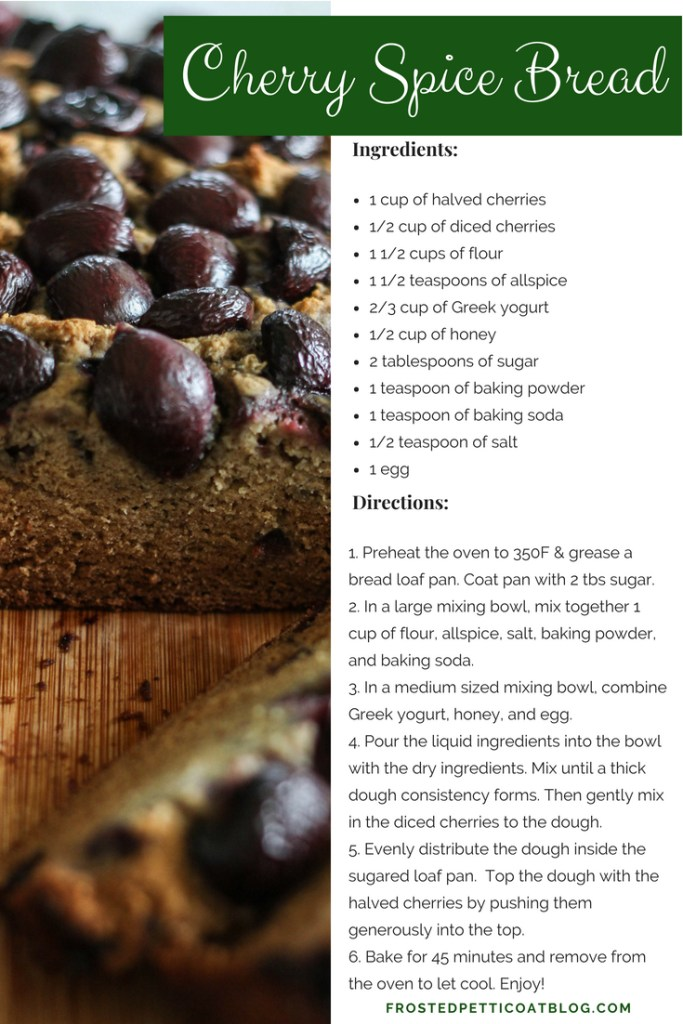 Cherry Spice Bread - recipe