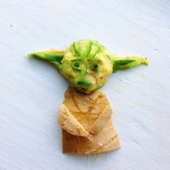 Lauren Ho Food Art - fruitartbyloho Yoda