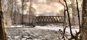 Dungeness River Bridge. Photo by Jay Cline.