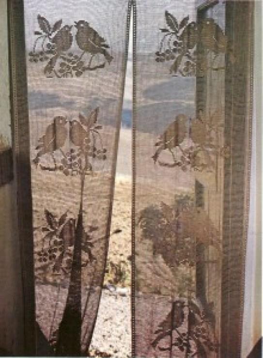 photo rideau oiseaux cerisier