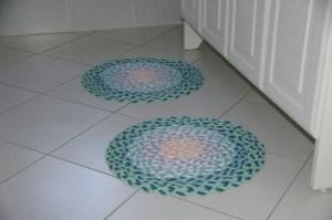 2 tapis ronds