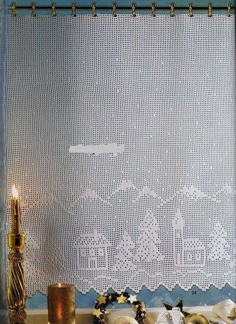 Les motifs sont placés tout en bas du rideau, la hauteur est libre.