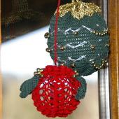 BOULE DE NOEL AU CROCHET verte or et argent AVEC TUTO - Le blog de crochet et tricot d'art de Suzelle