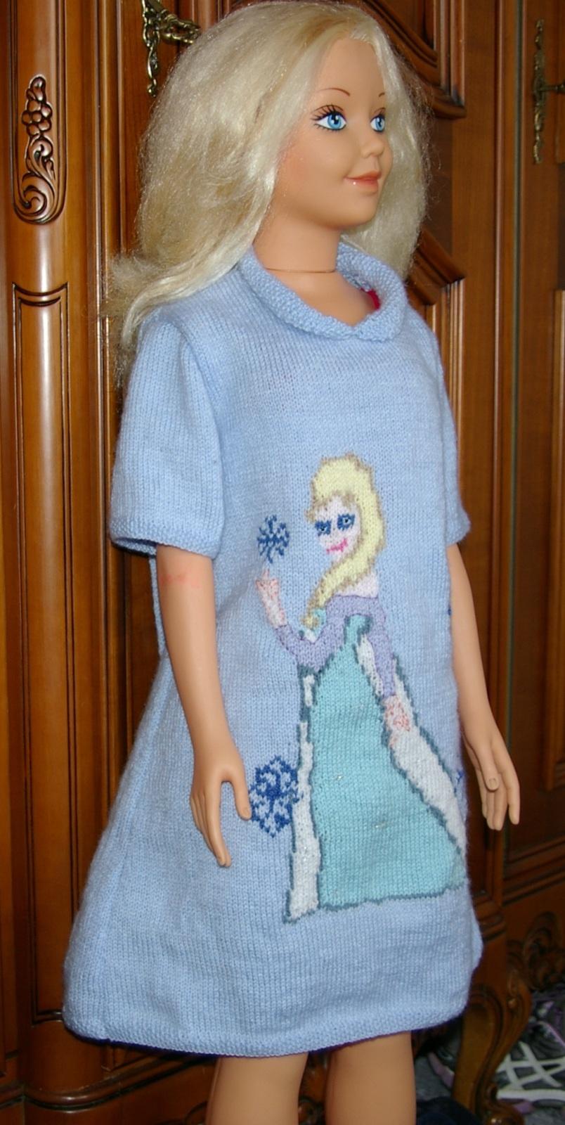 TRICOT : robe fillette REINE DES NEIGES tutoriel gratuit