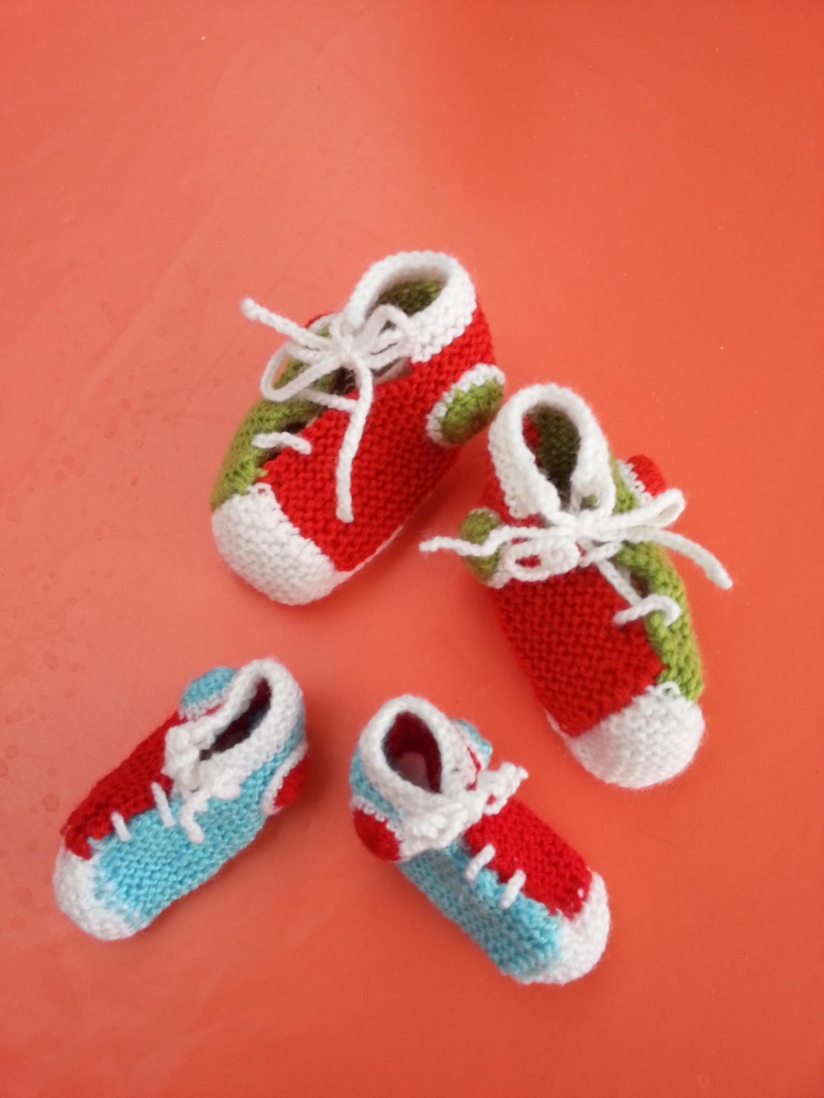 TRICOT : chaussons bébé baskets TUTORIEL GRATUIT