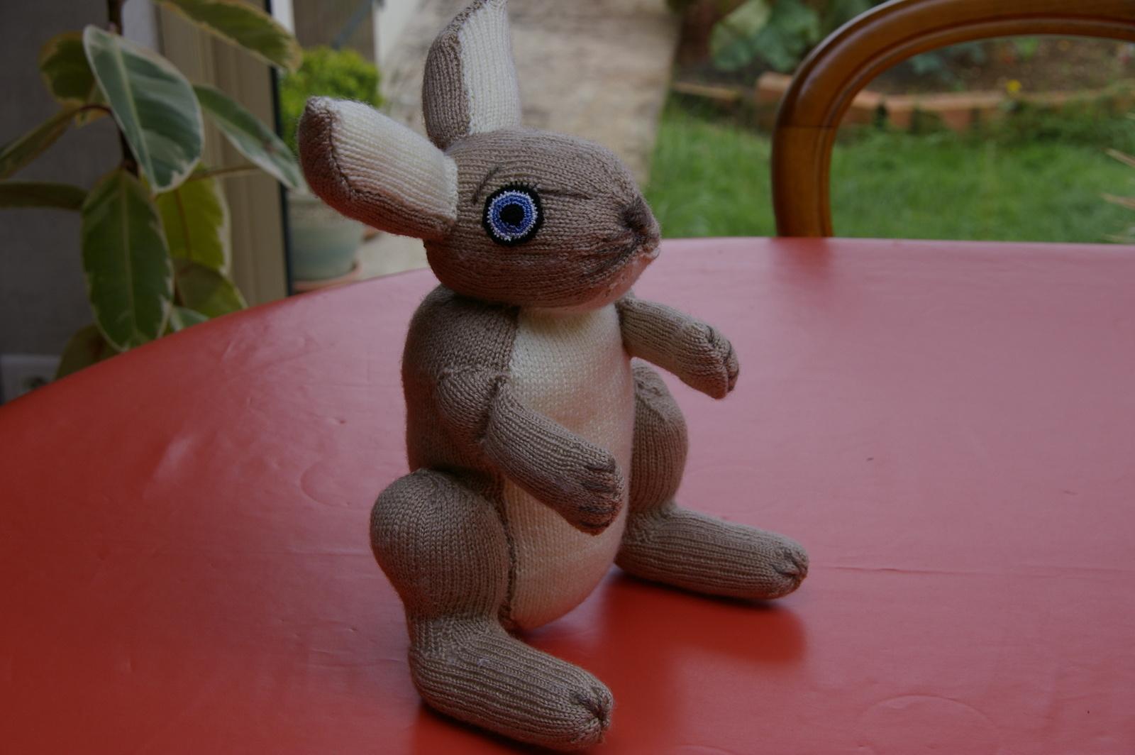 TRICOT : doudou lapin TUTORIEL GRATUIT