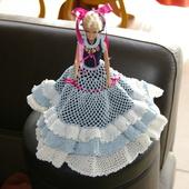 CROCHET : robe Princesse Froufrous pour Barbie TUTORIEL GRATUIT - Le blog de crochet et tricot d'art de Suzelle