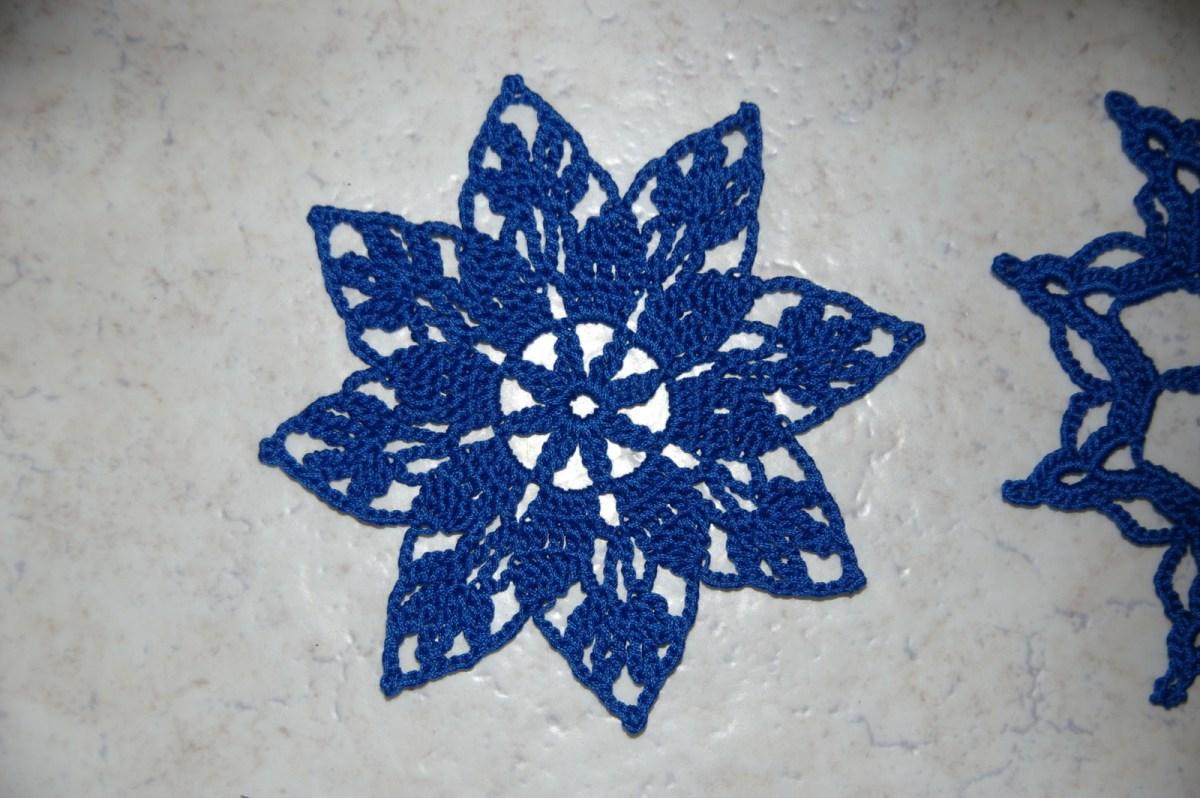 CROCHET : 3 étoiles bleues de Noël TUTORIEL GRATUIT