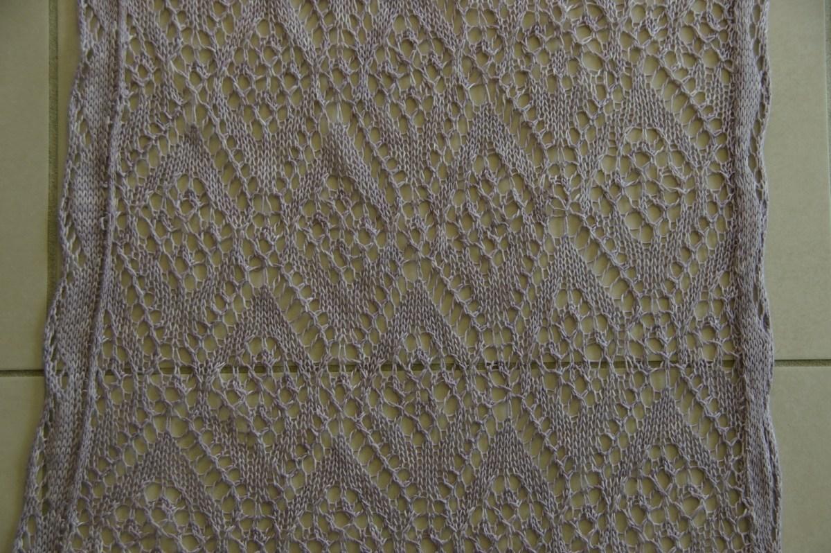 Le point losange traditionnel de la dentelle shetland