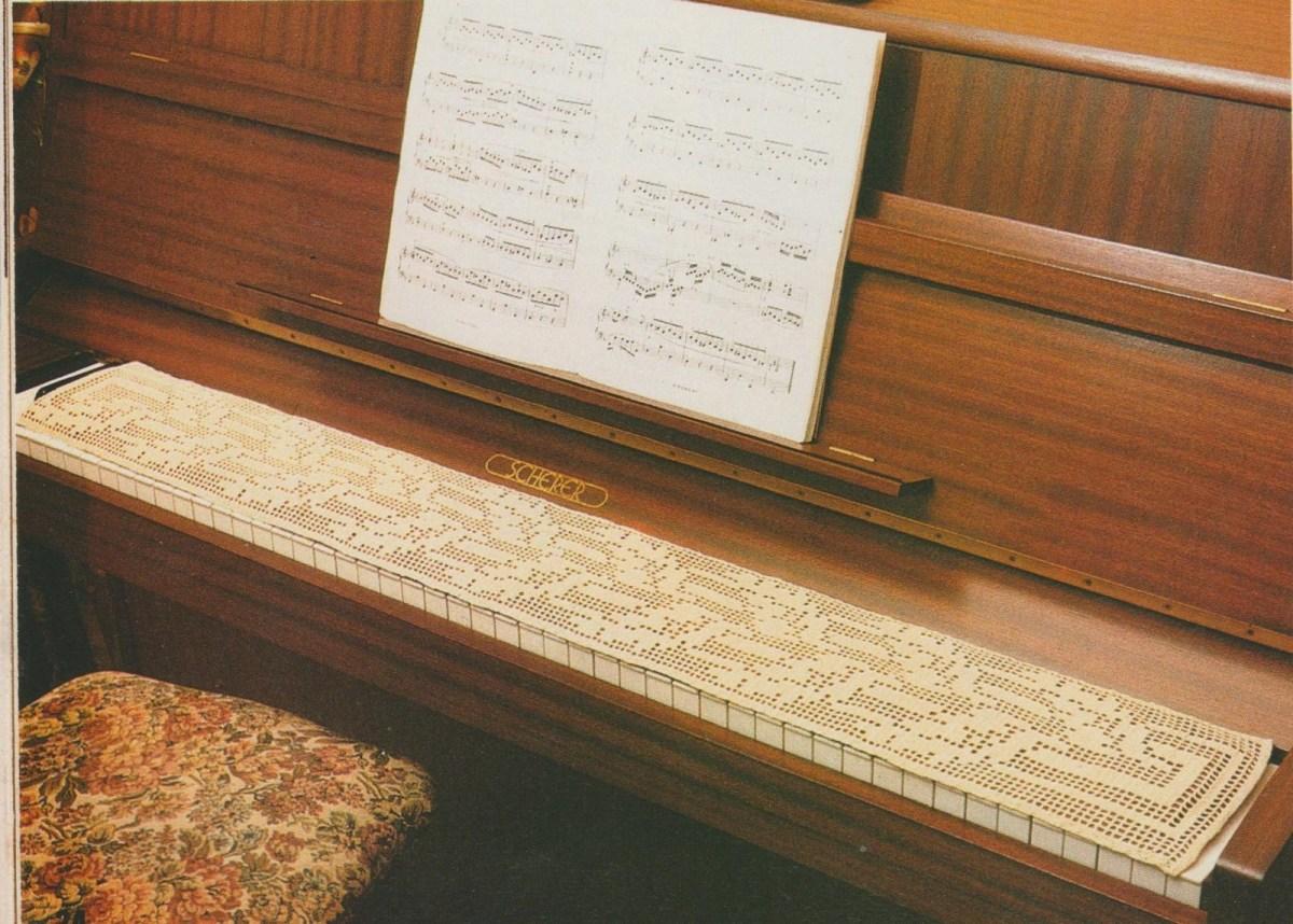 CROCHET : protège clavier de piano TUTORIEL GRATUIT