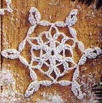 CROCHET NOEL : 4 flocons de neige 2018 TUTORIEL GRATUIT