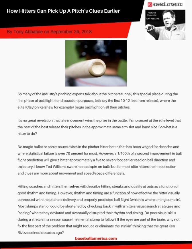 Tony Abbatine Baseball America