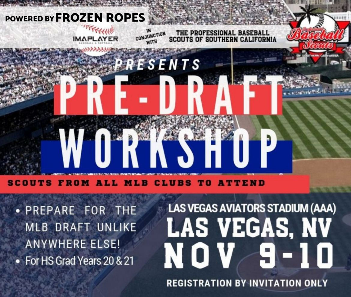 pre-draft workshop with IMAPLAYER and the Professional Baseball Scouts of Southern California