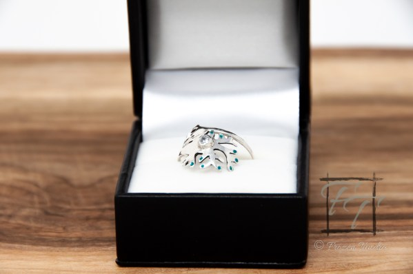 Commissioned multipolar neuron wrap wring in sterling silver