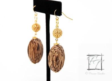palm wood walk in the woods earrings