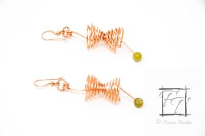 minkowski space light cone earrings