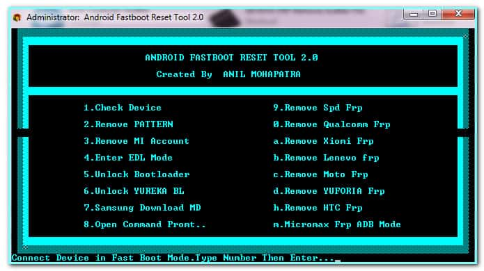 Android Fastboot Reset Tool
