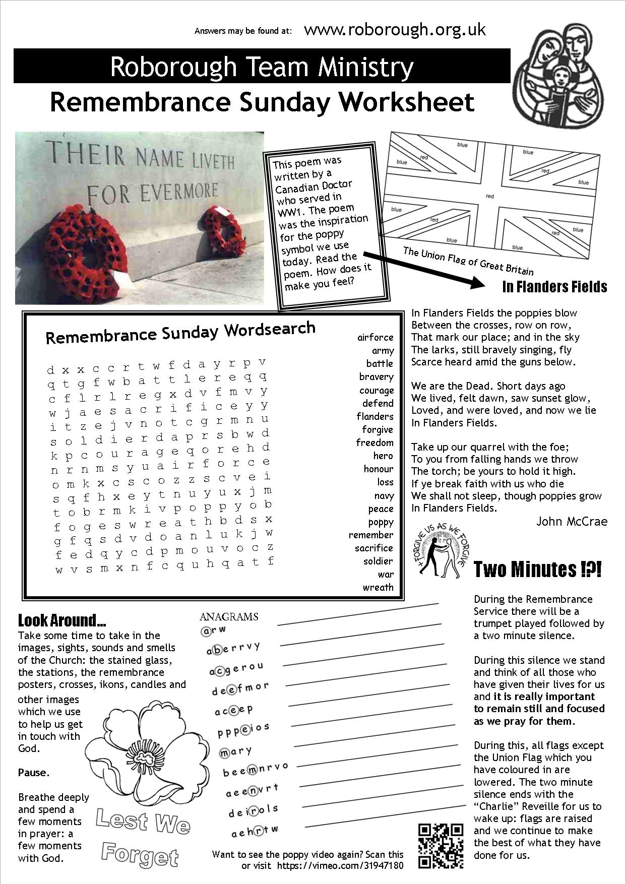 Remembrance Sunday Worksheet For Children Me Liturgy