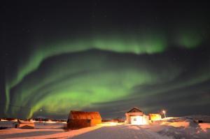Noorderlicht Kvalnesbrygga Vesteralen Noorwegen