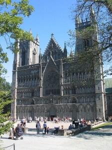 De Nidarosdom in Trondheim, Noorwegen