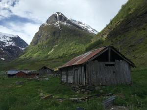 Naeroydal, Noorwegen, Fru Amundsen