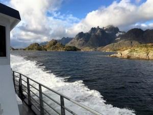 Boottocht langs de kust, Lofoten, Noorwegen, Fru Amundsen