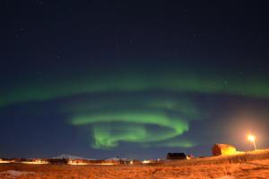 Noorderlicht bij onze accommodatie Foto: Fru Amundsen ©