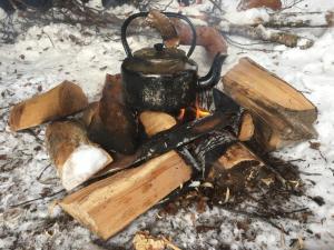 Kampvuur Finnmark Noorwegen