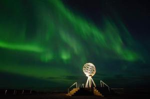 Noorderlicht op de noordkaap