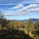 Herfstwandeling bij Sortland, Vesterålen, Fru Amundsen uitzicht