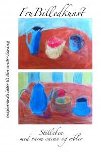 stilleben med varm cacao og æbler - forside