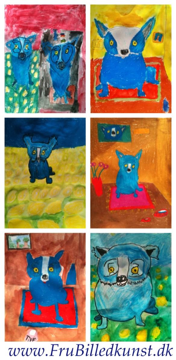 FruBilledkunst: Blue dog - 1.klasse