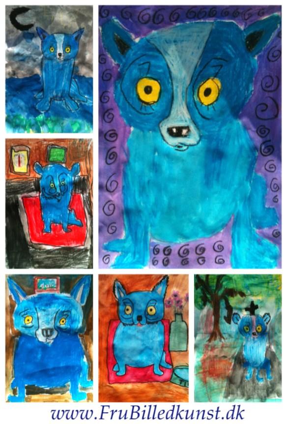 Frubilledkunst BlueDog 1klasse