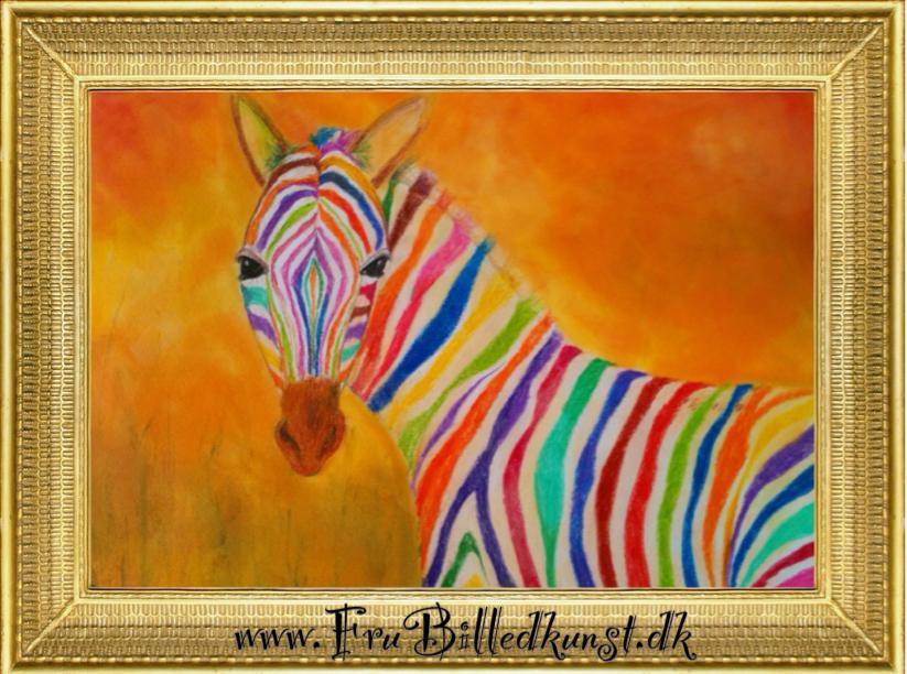 Frubilledkunst zebra TK