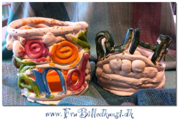 coil pots with names - www.FruBilledkunst.dk