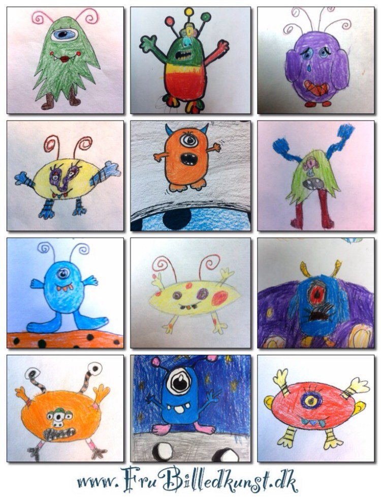 www.FruBilledkunst.dk - small monsters