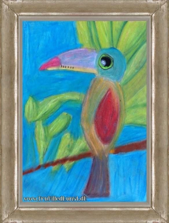 www.FruBilledkunst.dk - toucan art lesson