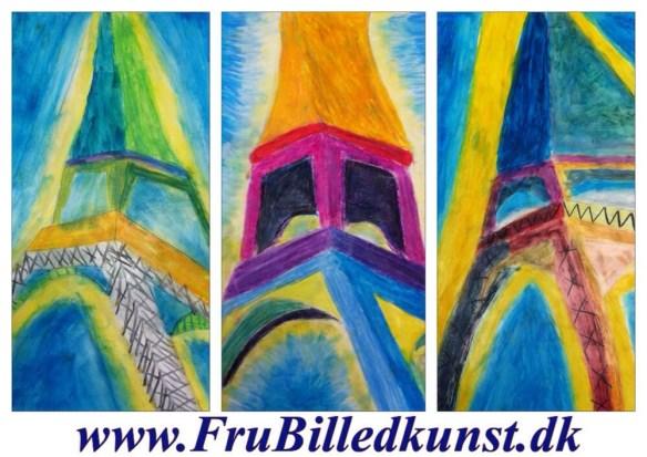 www.FruBilledkunst.dk - Eiffeltårnet 3.klasse