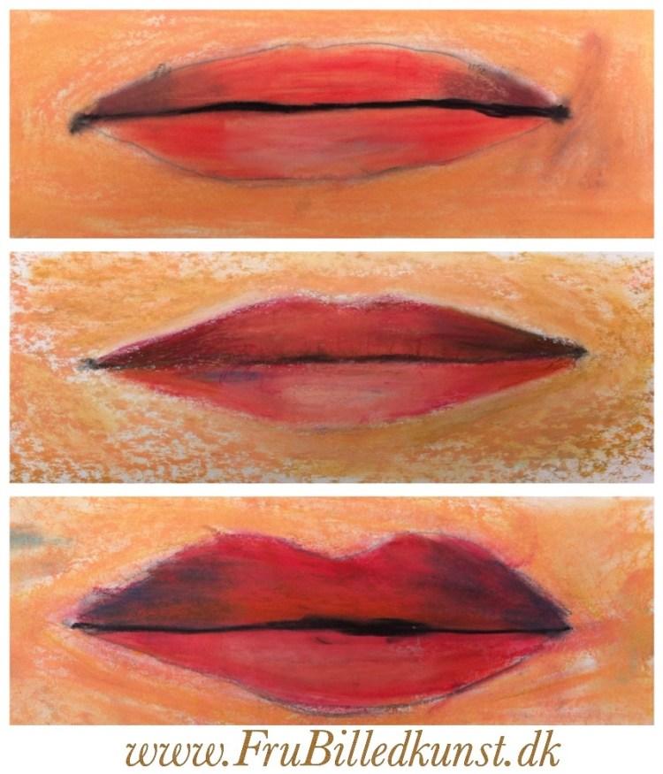 www.frubilledkunst.dk - selvportrætter - munde