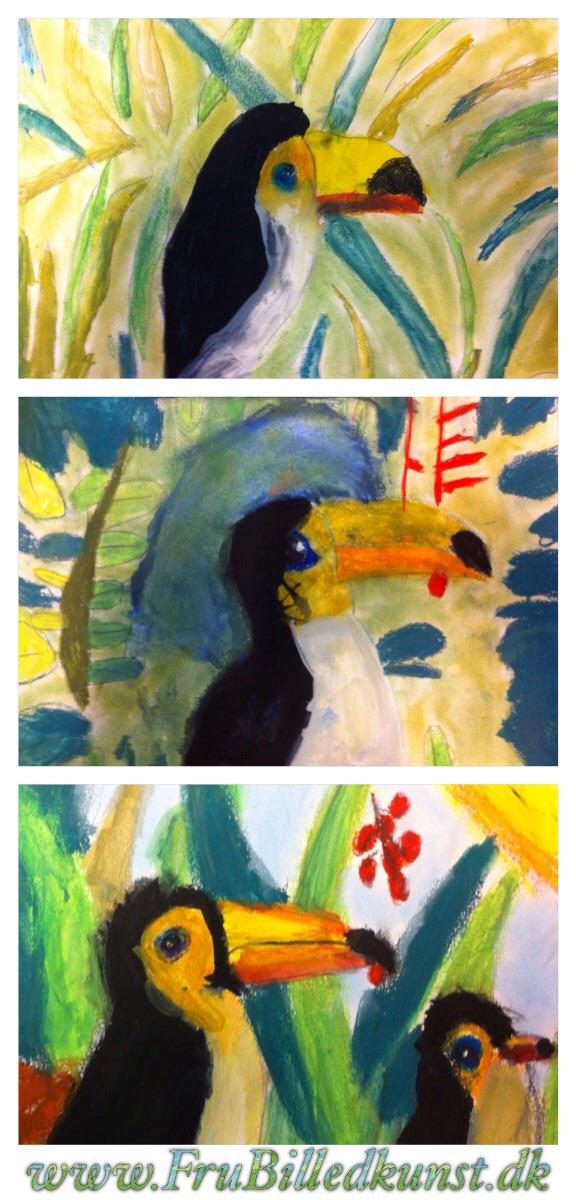 www.FruBilledkunst.dk - toucan lesson in first grade