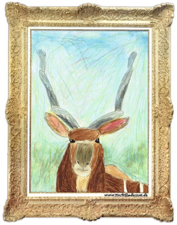 www.FruBilledkunst.dk - antilope 3
