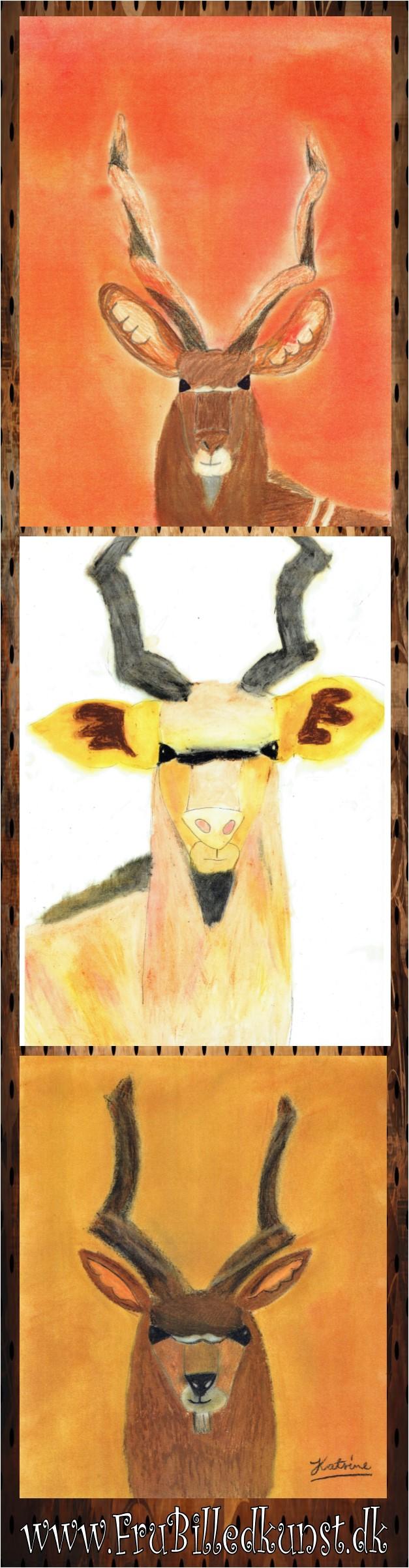www.FruBilledkunst.dk - kudo antiloper