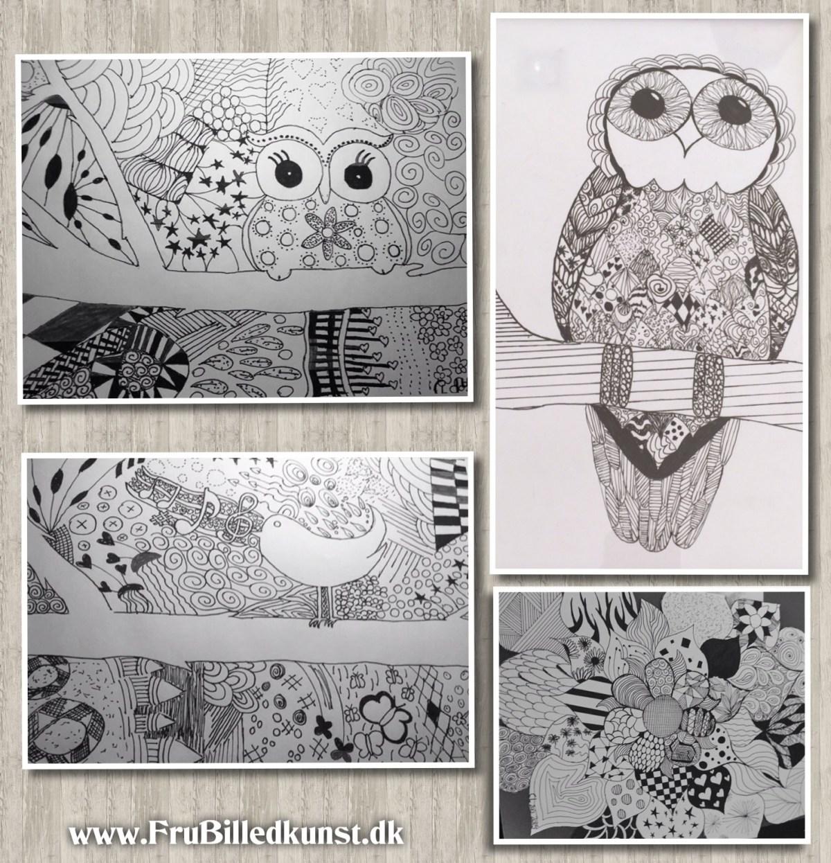 www.FruBilledkunst.dk - Claras doodles