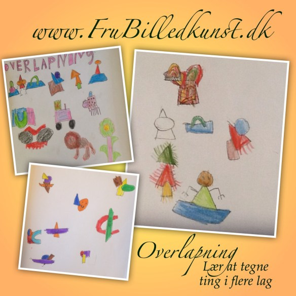 www.FruBilledkunst.dk - How to draw - overlapping