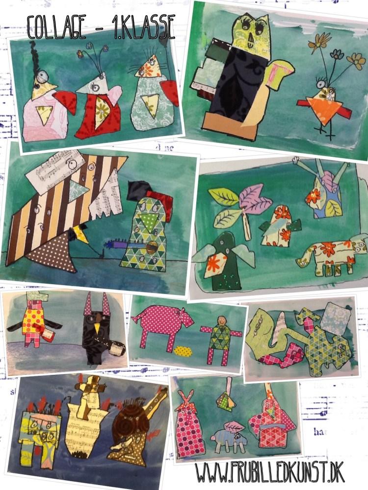www.FruBilledkunst.dk - collage 1.klasse
