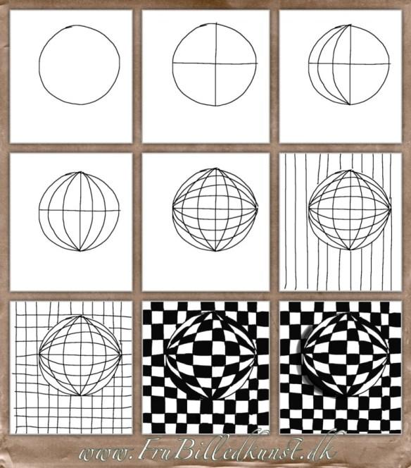 Op Art Kugler - www.FruBilledkunst.dk