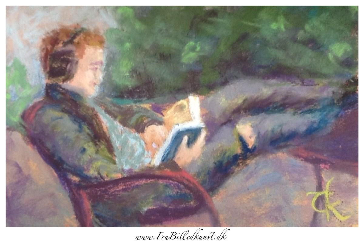 FruBilledkunst: Samuel læser