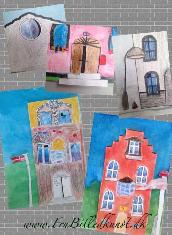 arkitektur collage - www.FruBilledkunst.dk