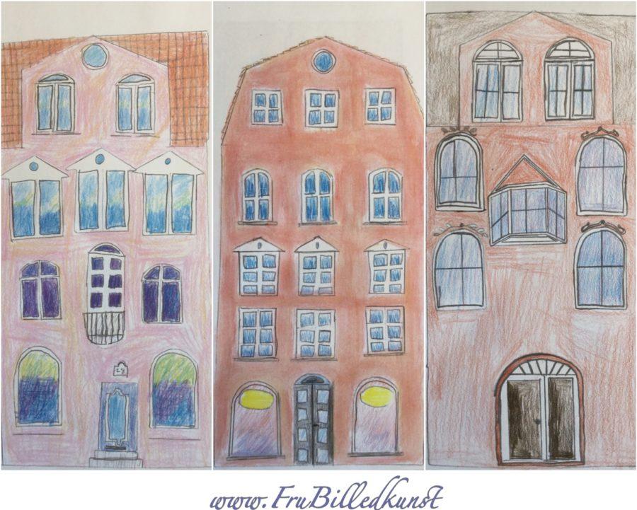 arkitektur i billedkunst - www.FruBilledkunst.dk